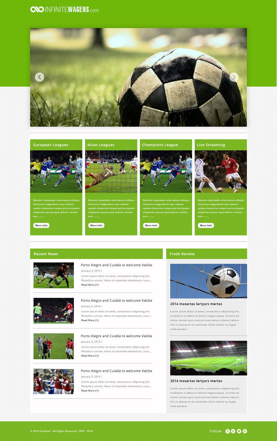 Bài tham dự cuộc thi #                                        9                                      cho                                         Homepage Mockup for a football affiliate betting site