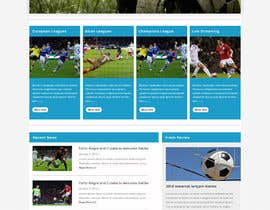 #10 cho Homepage Mockup for a football affiliate betting site bởi negibheji