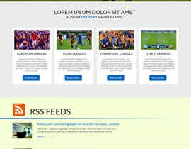 #6 cho Homepage Mockup for a football affiliate betting site bởi manfredinfotech