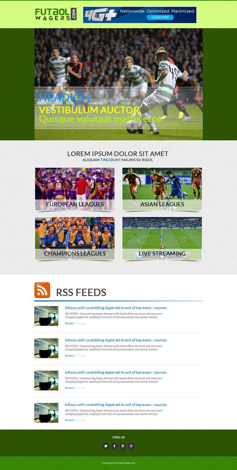 Bài tham dự cuộc thi #                                        7                                      cho                                         Homepage Mockup for a football affiliate betting site