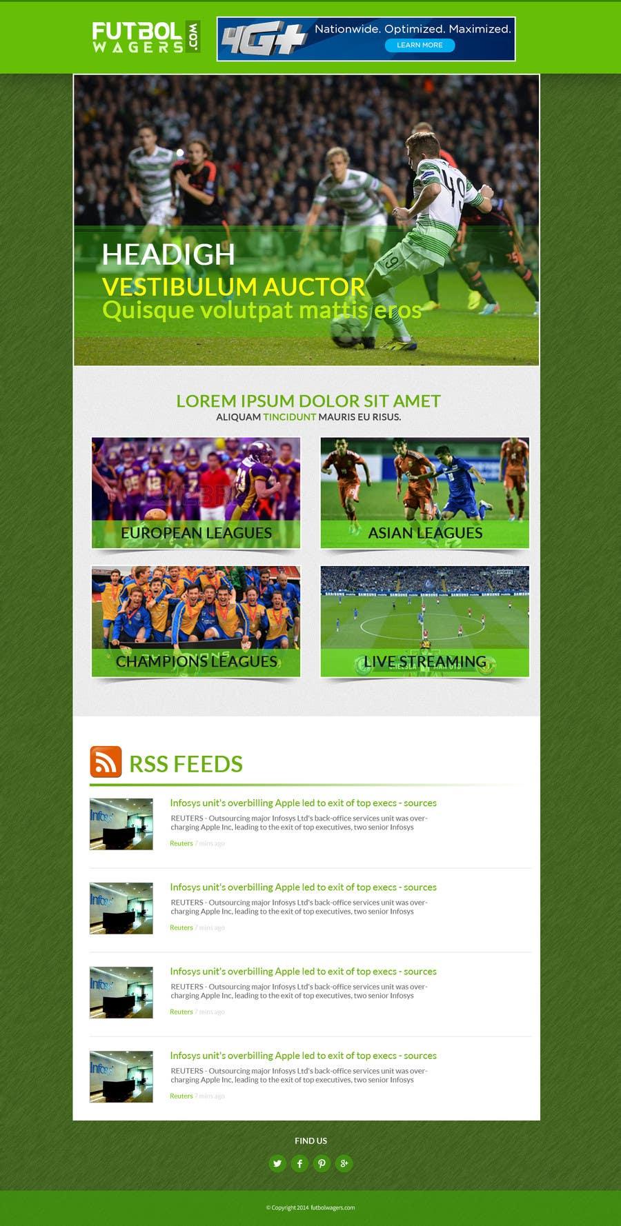 Bài tham dự cuộc thi #                                        11                                      cho                                         Homepage Mockup for a football affiliate betting site