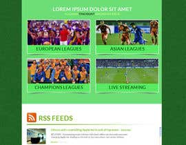 #12 cho Homepage Mockup for a football affiliate betting site bởi manfredinfotech