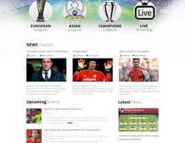 #13 cho Homepage Mockup for a football affiliate betting site bởi hieuhugo127