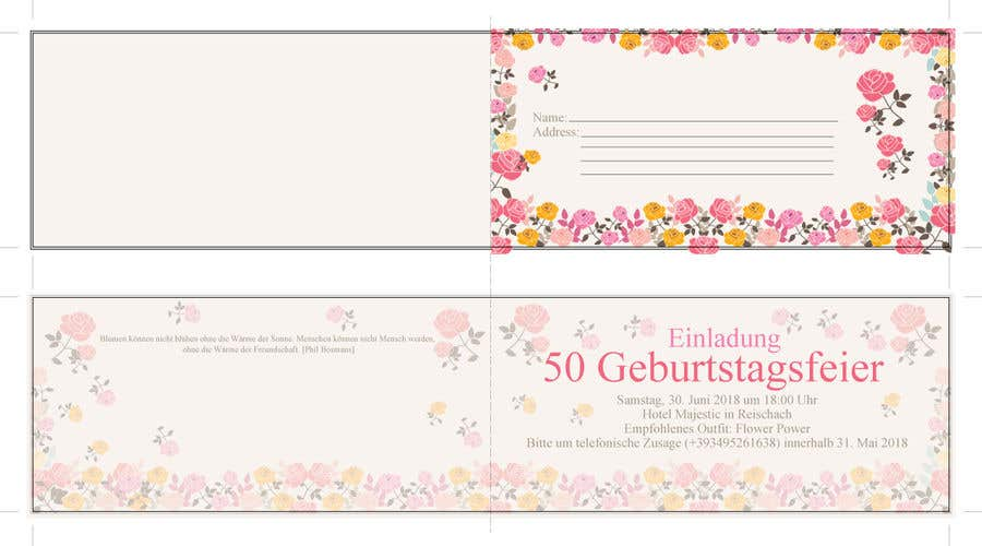 Entry 19 By Dsyro5552013 For Design A Birthday Invitation Card For