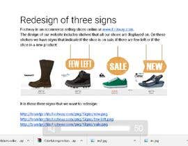 #81 for Design 3 eye-catching signs for eCommerce website by Manassarezk