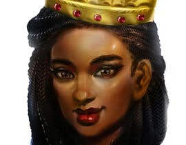 #12 for Black Woman Illustration With Braids Wearing A Crown by kmjgoon