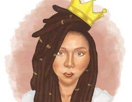 #32 for Black Woman Illustration With Braids Wearing A Crown by sketchdom