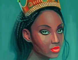 #10 for Black Woman Illustration With Braids Wearing A Crown by lreine
