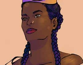 #22 for Black Woman Illustration With Braids Wearing A Crown by cat1124