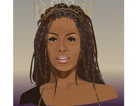 #1 for Black Woman Illustration With Braids Wearing A Crown by Sultana76