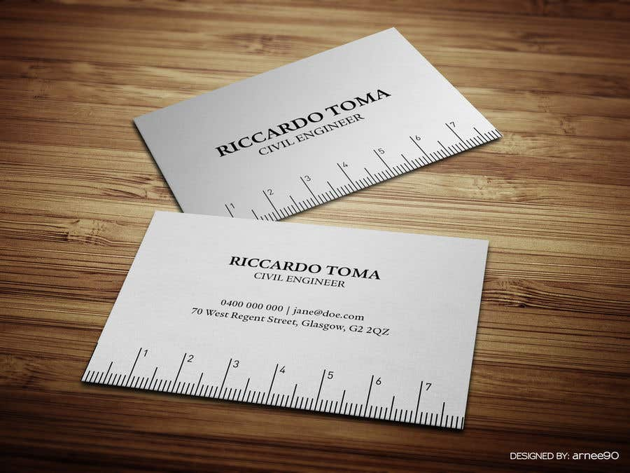 Entry #3 by arnee90 for BUSINESS CARDS - Civil Engineer | Freelancer