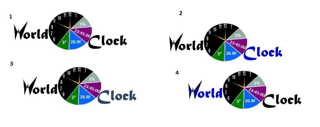 Penyertaan Peraduan #                                        196                                      untuk                                         Logo Design for WorldClock.com