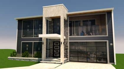 Billede af                             architectural design of front en...