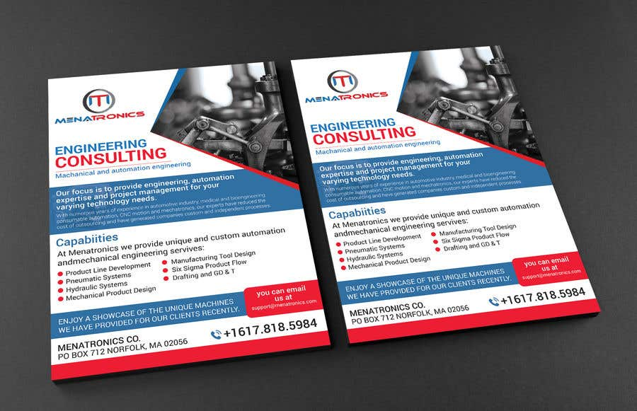 Entry #19 by rashedul070 for Need a flyer to advertise a company