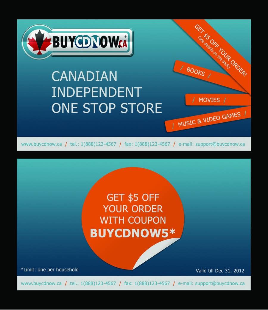 Конкурсная заявка №18 для Business Card Design for BUYCDNOW.CA