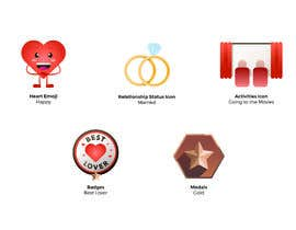#28 for Graphic Illustrator Needed For Emoji's, Badges, Medals, & Other Icons (Winner WIll Be Hired For Additional Work) by MollyMPDesign