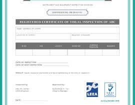 tintinana tarafından Design a certificate for inspection calibration için no 11