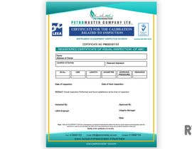 ryomboxstudio tarafından Design a certificate for inspection calibration için no 3
