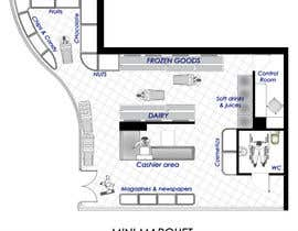 #13 για To Make interior furniture layout for mini market από diaparadi