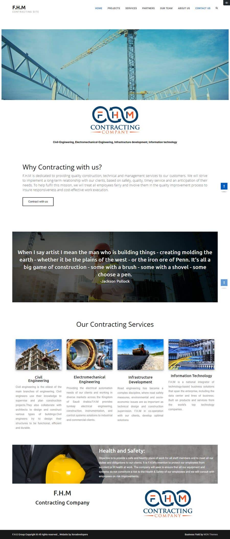 Kilpailutyö #3 kilpailussa Build a wordpress theme for my company