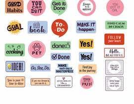 Nro 23 kilpailuun Design Stickers for Planner/Organizer käyttäjältä tomislavfedorov