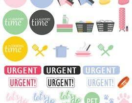 Nro 16 kilpailuun Design Stickers for Planner/Organizer käyttäjältä PixiePie