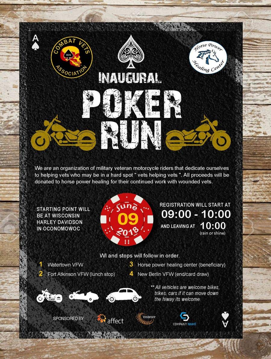 Contest Entry #21 for Inuagural poker run flyer
