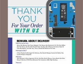 """Nro 13 kilpailuun A5 flyer """"thank you for your order"""" käyttäjältä yunitasarike1"""