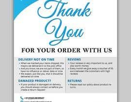 """Nro 16 kilpailuun A5 flyer """"thank you for your order"""" käyttäjältä satishandsurabhi"""