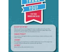 """Nro 14 kilpailuun A5 flyer """"thank you for your order"""" käyttäjältä prayasdesign"""