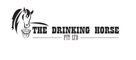 "Penyertaan Peraduan #                                        40                                      untuk                                         Design a Logo for ""THE DRINKING HORSE PTY LTD"""