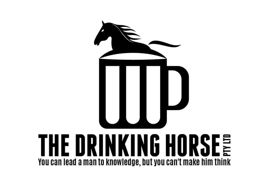 "Penyertaan Peraduan #                                        46                                      untuk                                         Design a Logo for ""THE DRINKING HORSE PTY LTD"""
