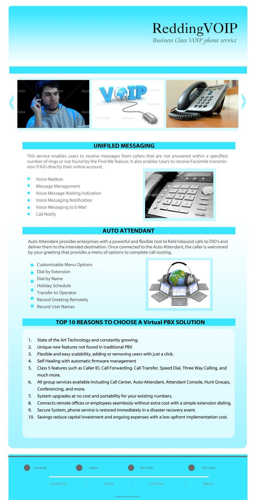 Inscrição nº                                         2                                      do Concurso para                                         Graphic Design for Business VOIP Single Page Site