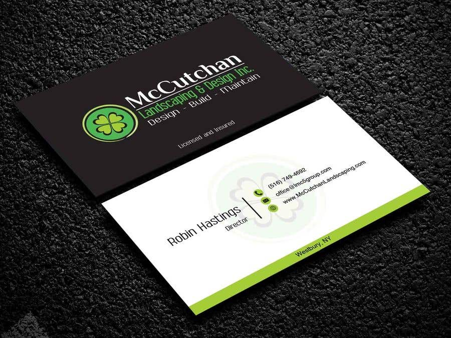 Entry 52 By Nabila114 For Landscaping Business Card Freelancer