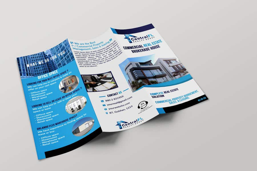 entry 53 by masud367 for design a commercial real estate trifold