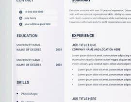 Nro 13 kilpailuun Create Resume Templates käyttäjältä Forhad95s