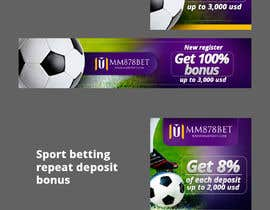 #2 for Banner design for soccer betting , casino and gambling website by cebrodesing