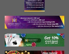 #7 for Banner design for soccer betting , casino and gambling website by cebrodesing