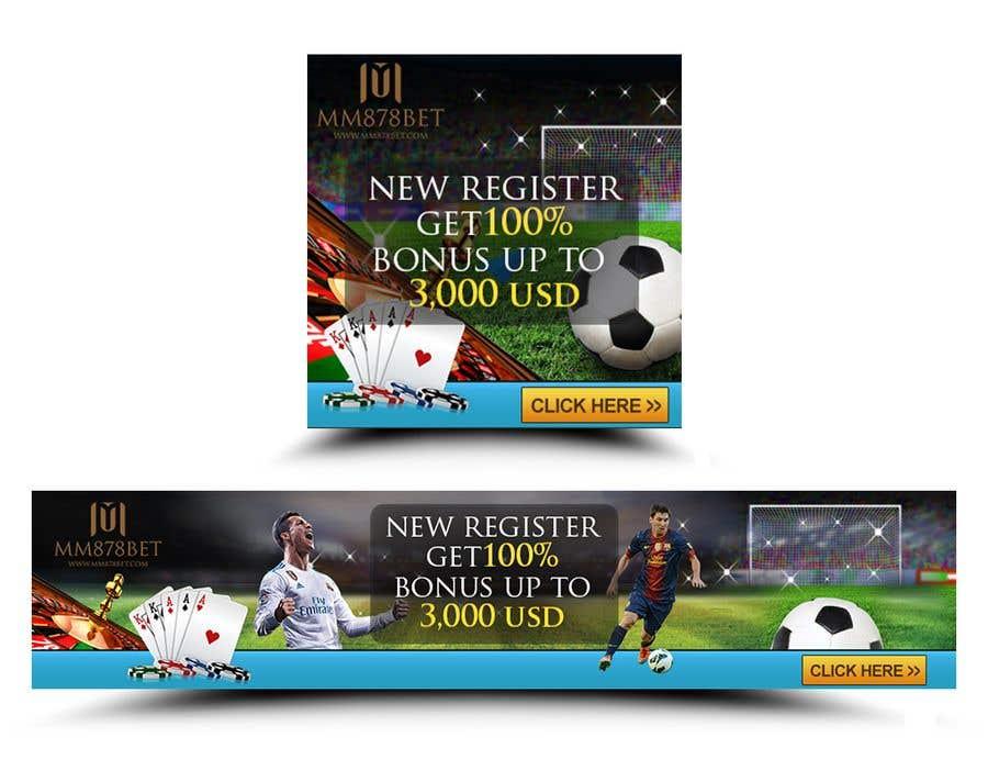 Entry #16 by cahkuli for Banner design for soccer betting , casino and  gambling website | Freelancer