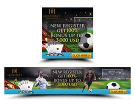 #16 for Banner design for soccer betting , casino and gambling website by cahkuli
