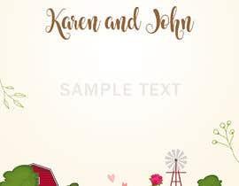 Nro 30 kilpailuun Design wedding invitation for a farm themed wedding käyttäjältä sanjaykart