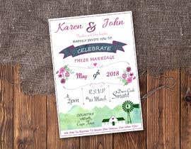 Nro 26 kilpailuun Design wedding invitation for a farm themed wedding käyttäjältä SamanthaJenine