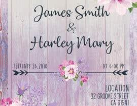 Nro 5 kilpailuun Design wedding invitation for a farm themed wedding käyttäjältä NathaniaG