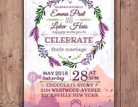Nro 53 kilpailuun Design wedding invitation for a farm themed wedding käyttäjältä EolLotlan