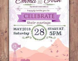 Nro 55 kilpailuun Design wedding invitation for a farm themed wedding käyttäjältä EolLotlan