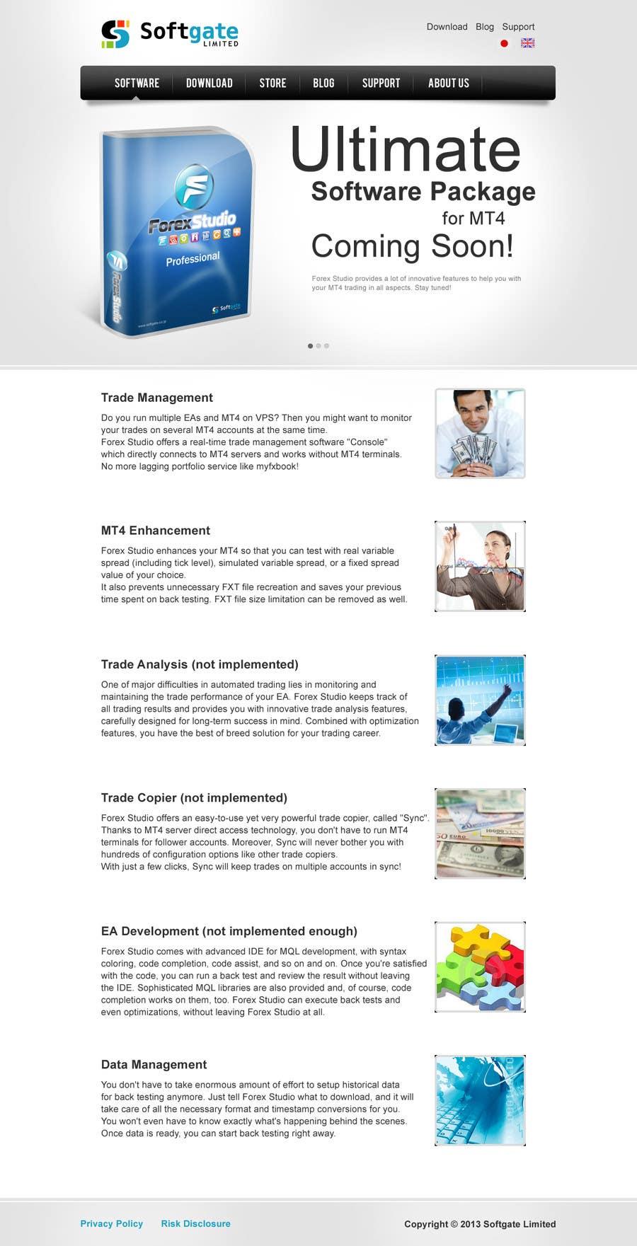 Inscrição nº                                         16                                      do Concurso para                                         Website Design for Forex Studio product page