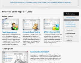 nº 30 pour Website Design for Forex Studio product page par primeminister