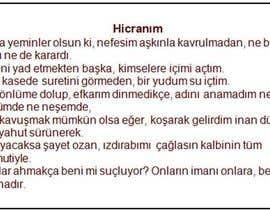 #5 для Poem in Turkish от voluntaryworks1