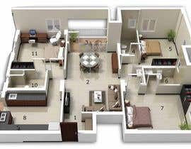 nº 18 pour Architecural design for renovation of unit / villa in Melbourne par Arkhitekton007
