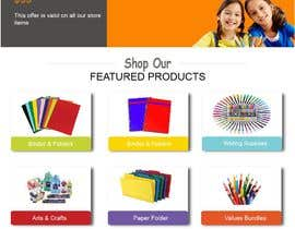 #15 for Mockup landing page for school supplies by FALL3N0005000